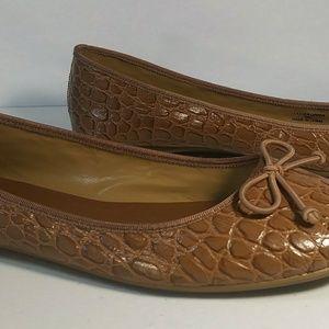 Talbots Ballerine Style Slip-on Flats 9 M Brown